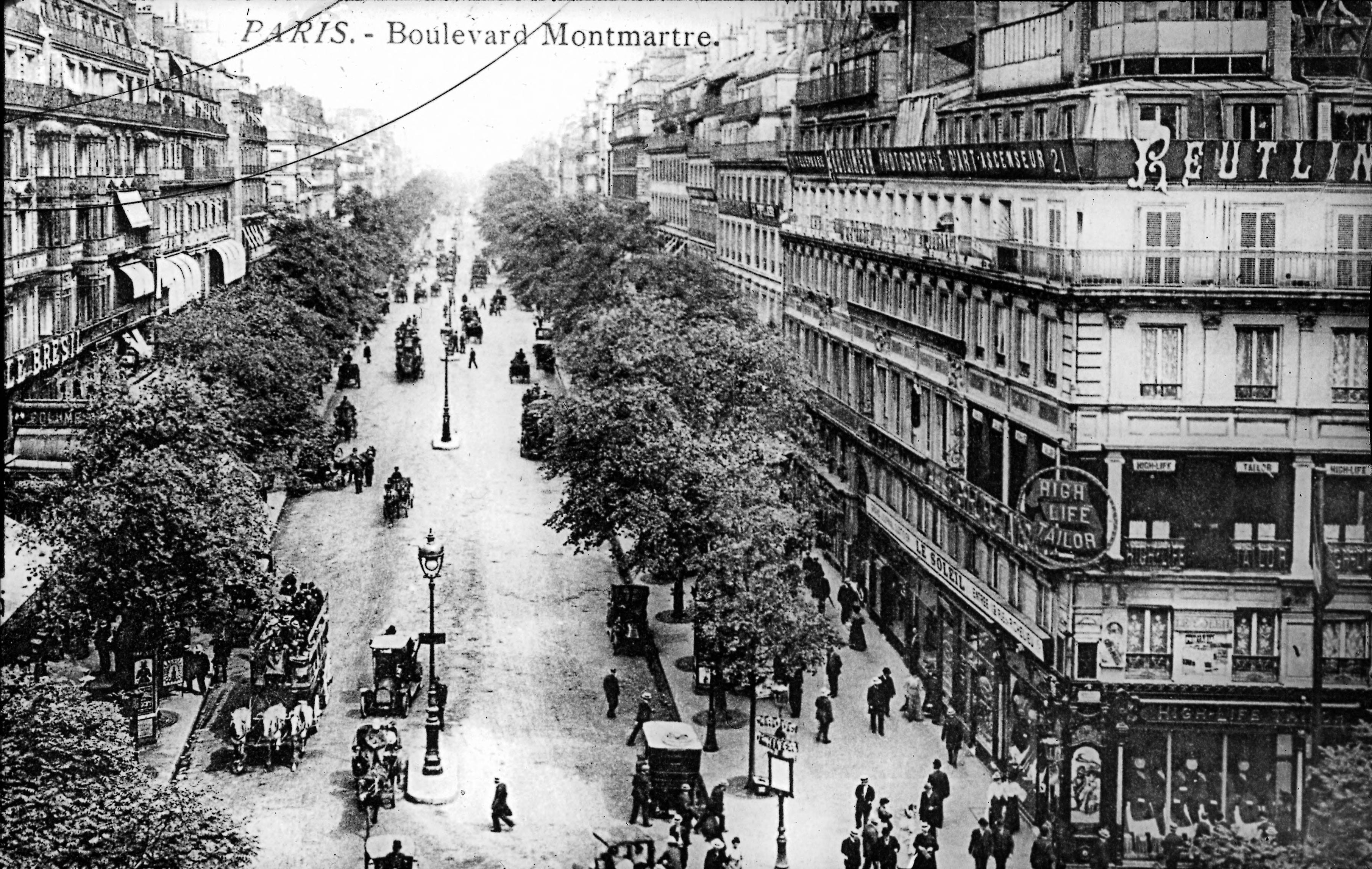 Бульвар Монмартр. Общий вид