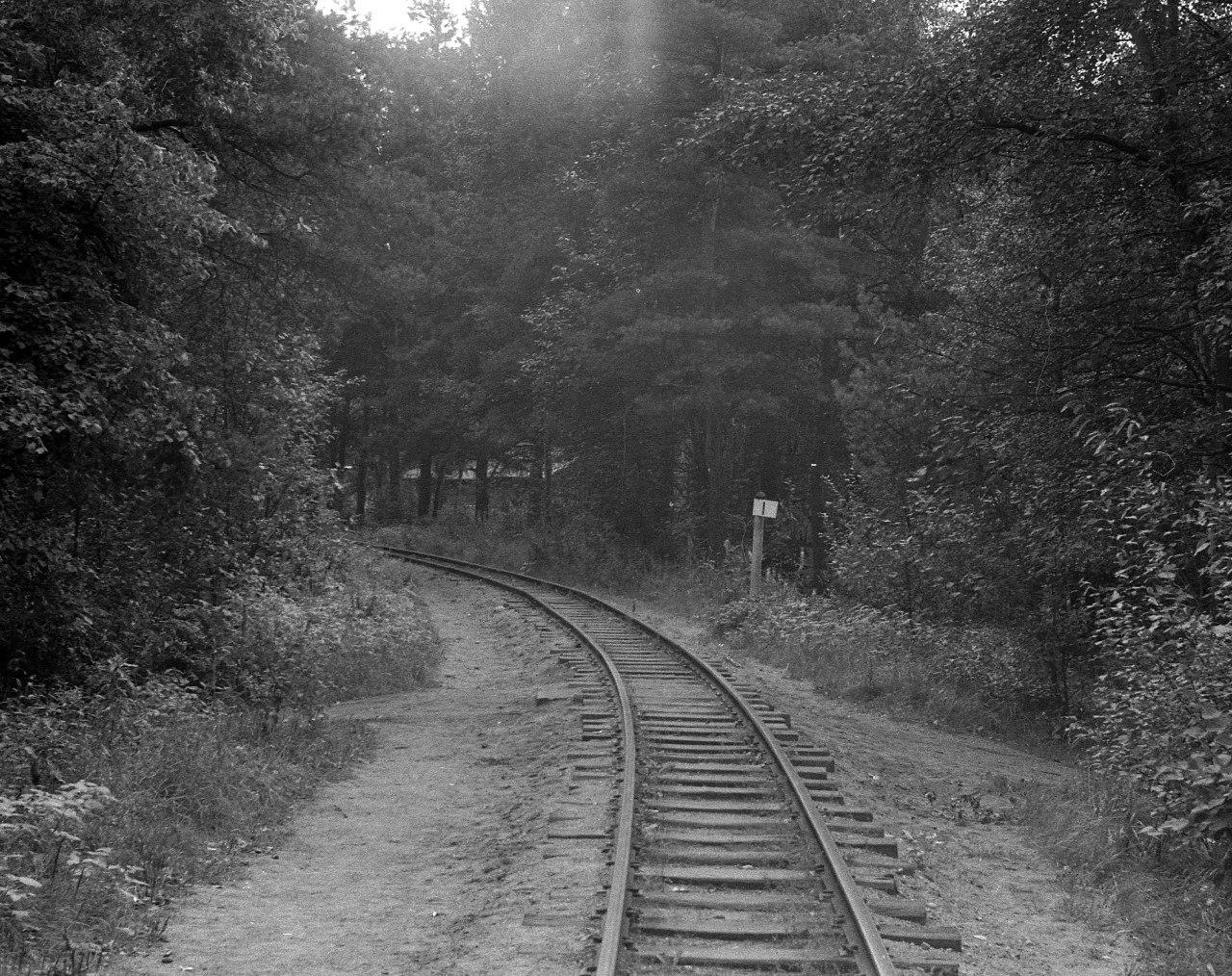 Первый километр детской железной дороги. 1970-е.