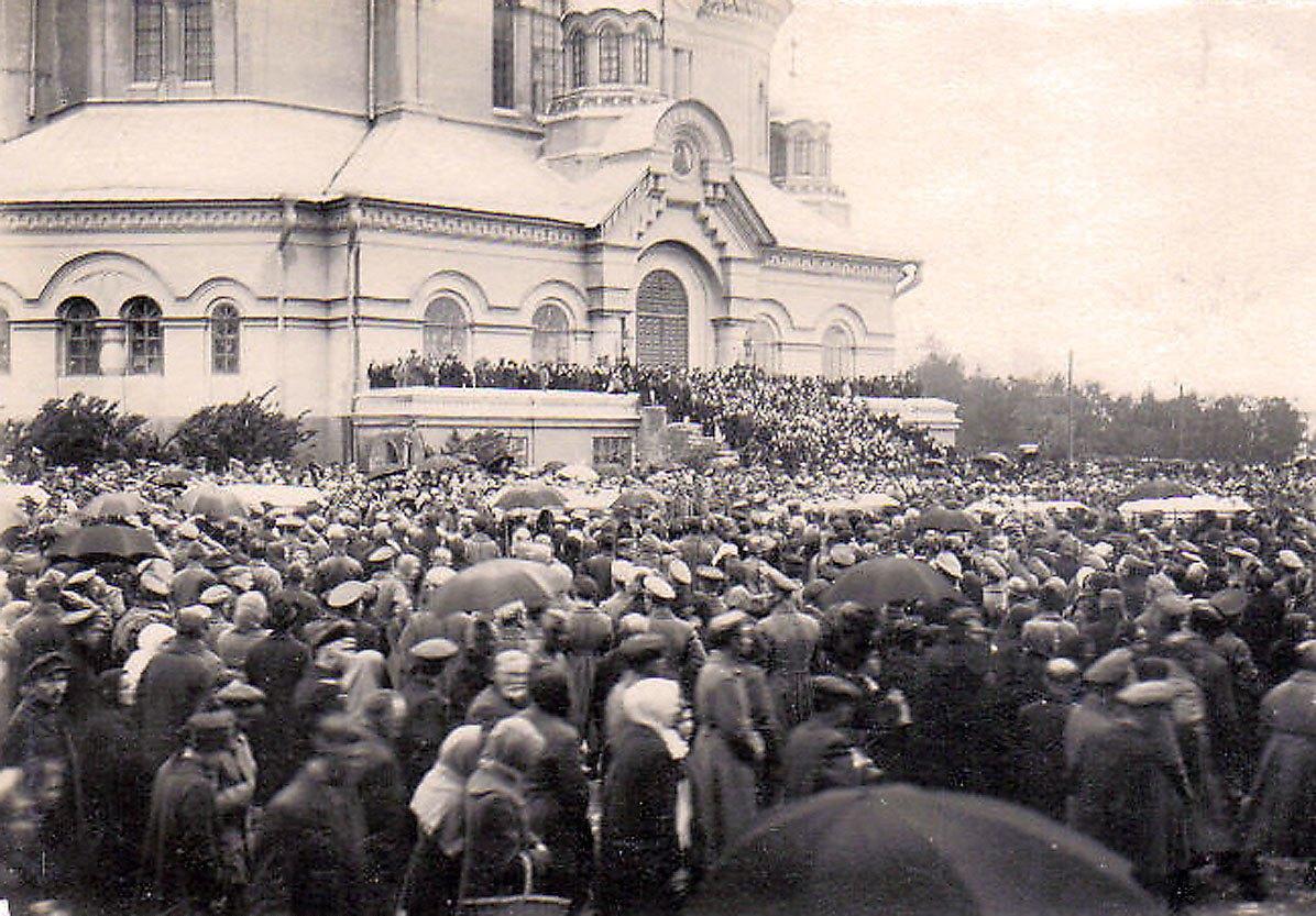 Похороны белочехов в Самаре. 1918