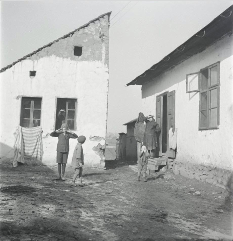 Жители деревни в Карпатах