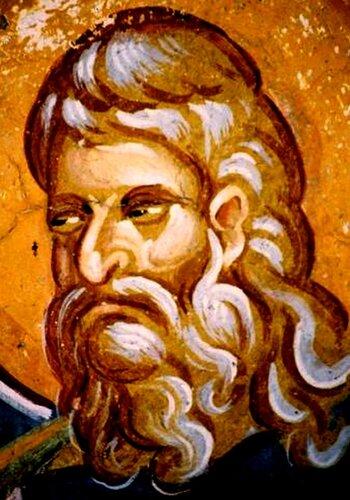 Святой Пророк Исаия. Фреска церкви Святых Апостолов в Пече, Косово, Сербия. Около 1350 года.