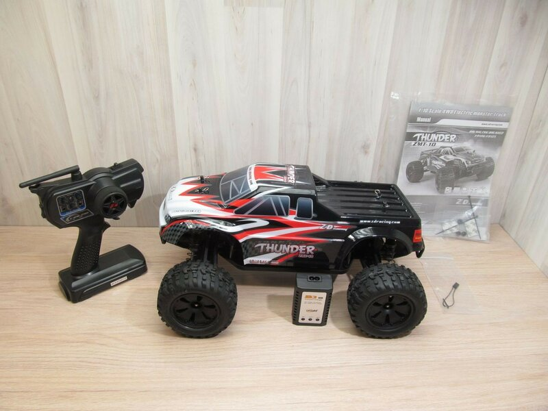 GearBest: Монстр-трак ZD Racing 10427-S в масштабе 1:10 с б/к мотором