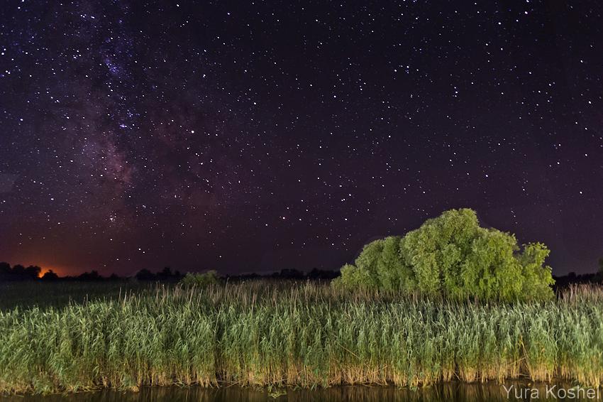 Звездное небо над раскатами