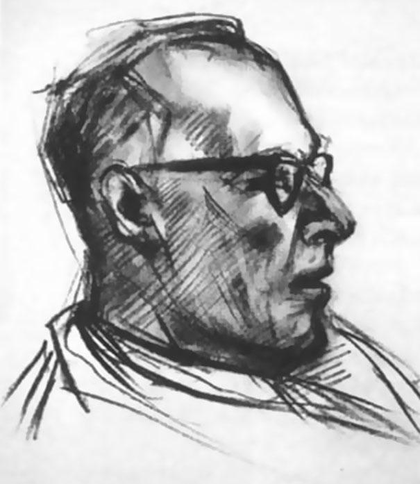 Эксперимент из 1950-х: художнику давали ЛСД и просили нарисовать 9 портретов (9 фото)