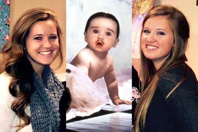 Кейтлин и Кристен Хоппер (Пуберт Аддамс) Усатого младенца в фильме сыграли сестры-близнецы. Сейчас д