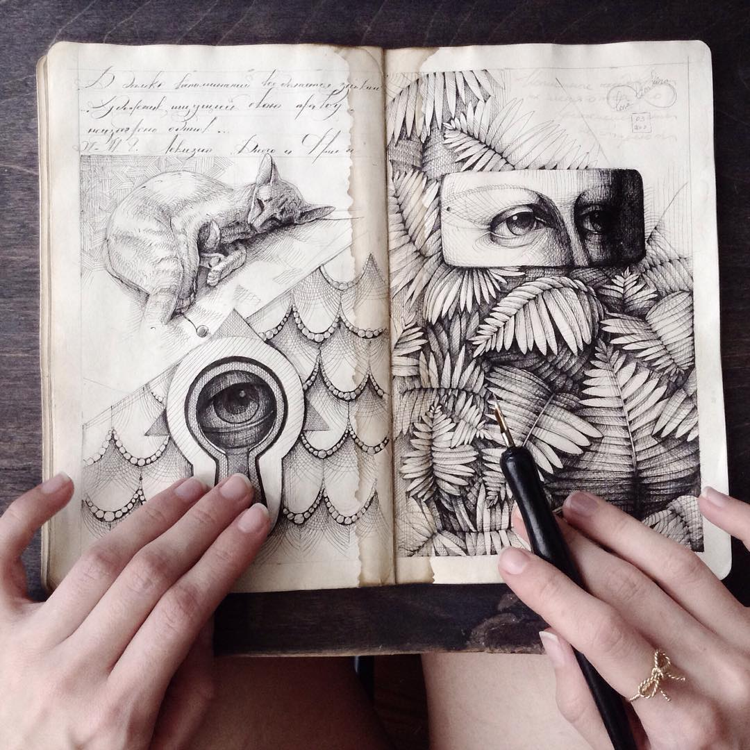 Elegant Dip Pen Illustrations Inside the Sketchbooks of Elena Limkina