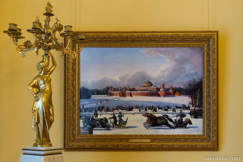 Неизвестный художник первой половины XIX века. Санные гонки в Петровском парке, 1830-1840-е годы