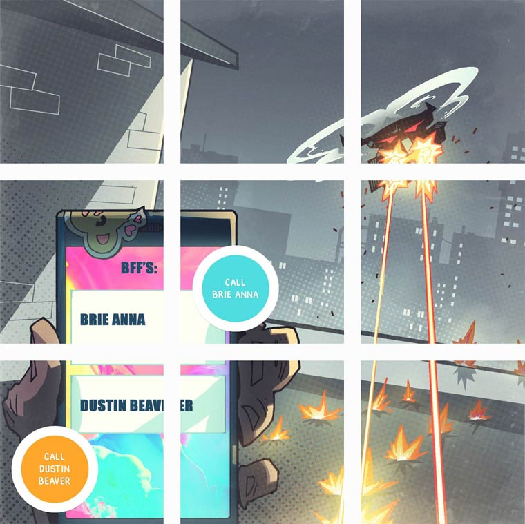 You are the hero - An amazing interactive comic published on Instagram!
