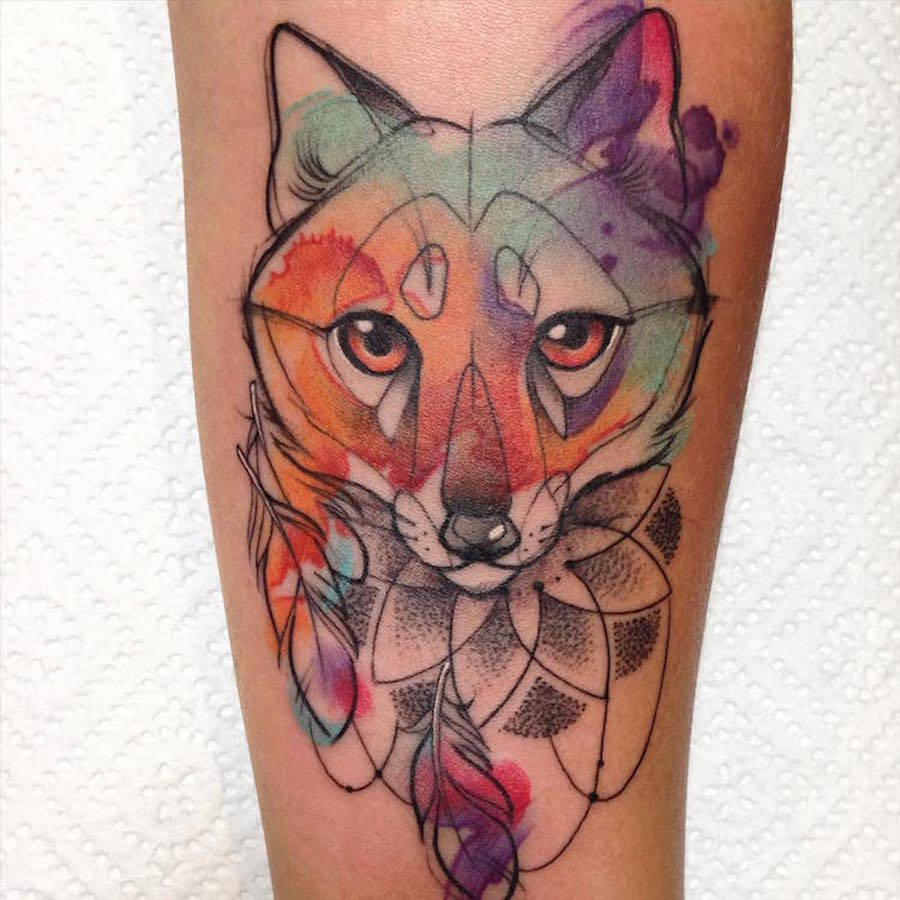 Nice Colorful Animal Tattoos