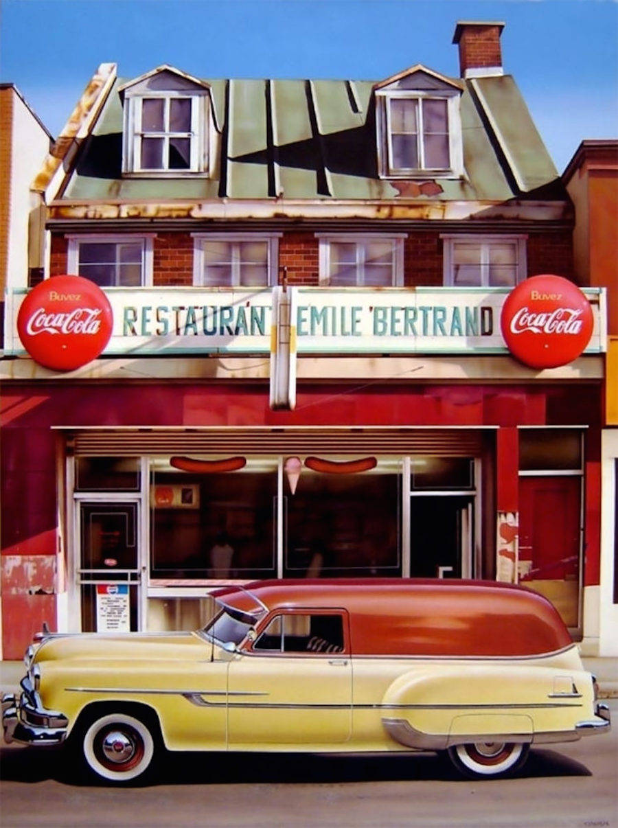 Photorealistic Paintings of Everyday Life