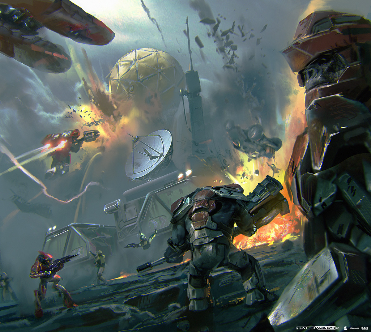 Halo Wars 2 Concept Art by Yap Kun Rong