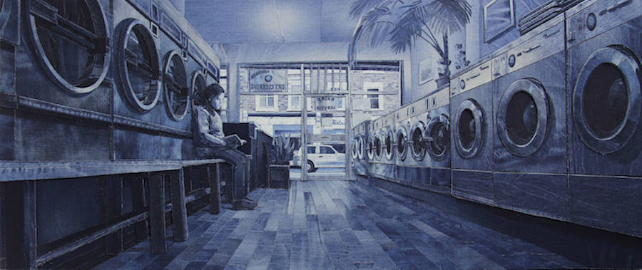 Incredible Murals Created with Denim Jeans