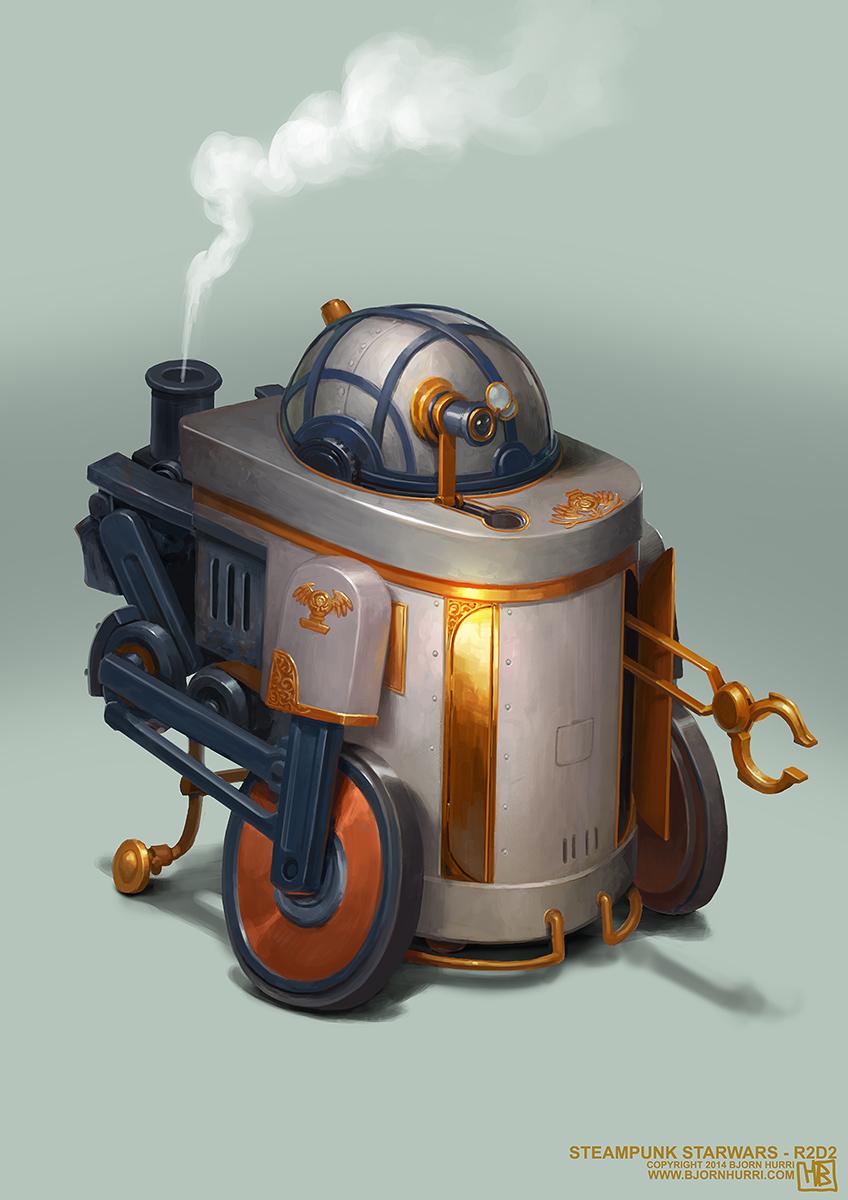 Steampunk Star Wars Illustrations by Bjorn Hurri
