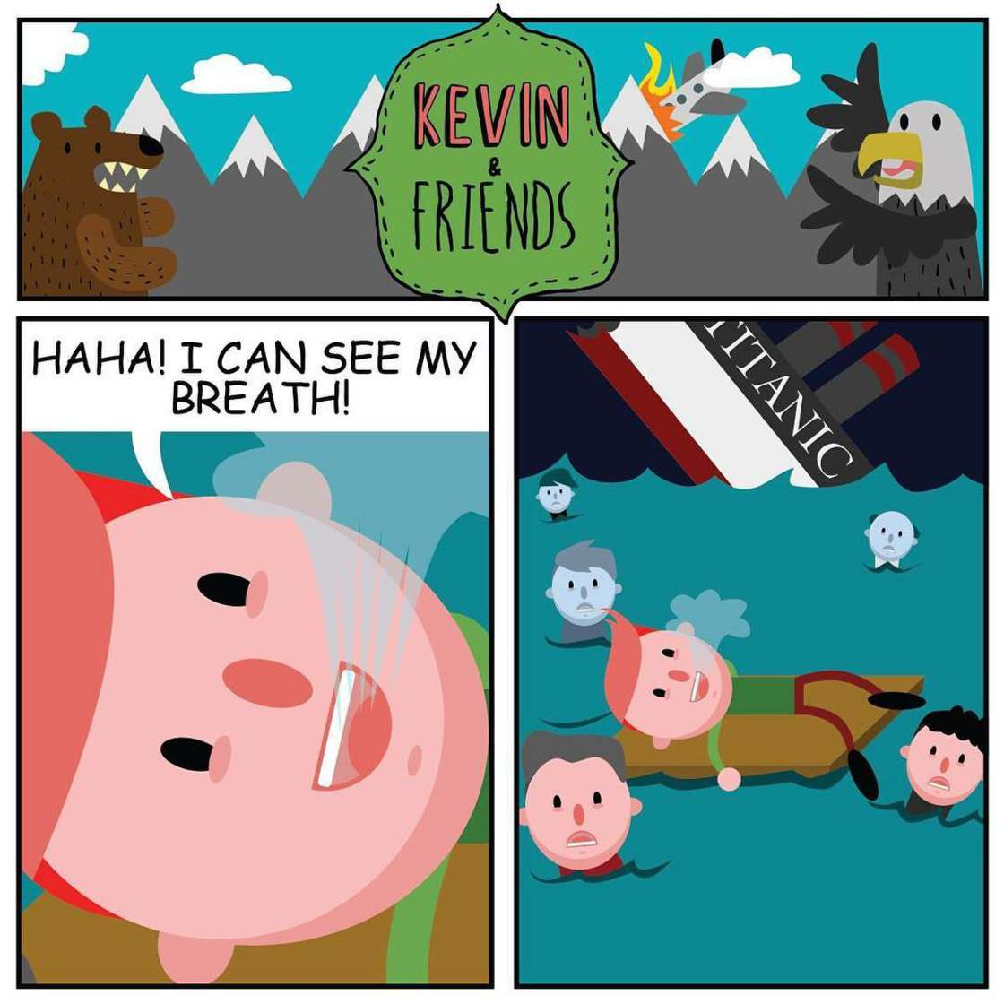 Kevin est optimiste - Des illustrations trash et bourrees d'humour noir