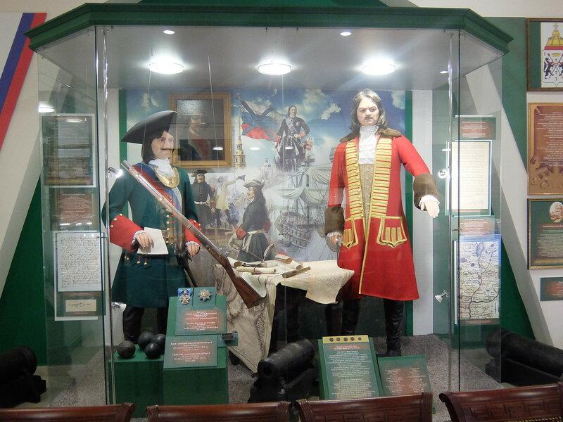 Омский краеведческий музей - Бухгольц и Петр Первый