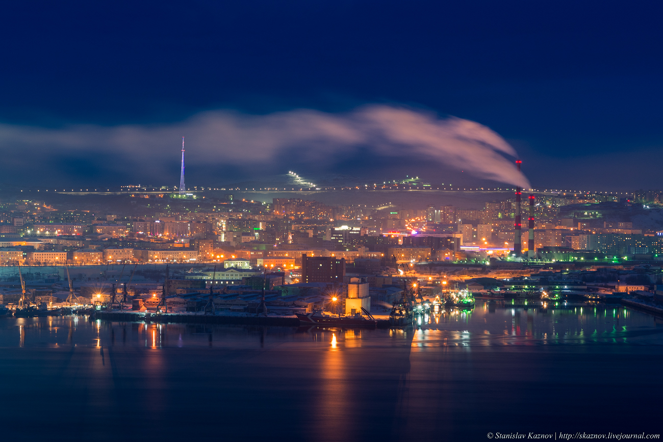 фотоснимки панорама города мурманска для фиксации окна