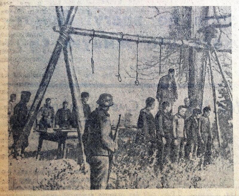 «Правда», 6 февраля 1942 года, что творили гитлеровцы с русскими прежде чем расстрелять, что творили гитлеровцы с русскими женщинами, зверства фашистов над женщинами, зверства фашистов над детьми, издевательства фашистов над мирным населением