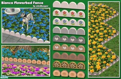 Bianca Flowerbed Fence от Windkeeper