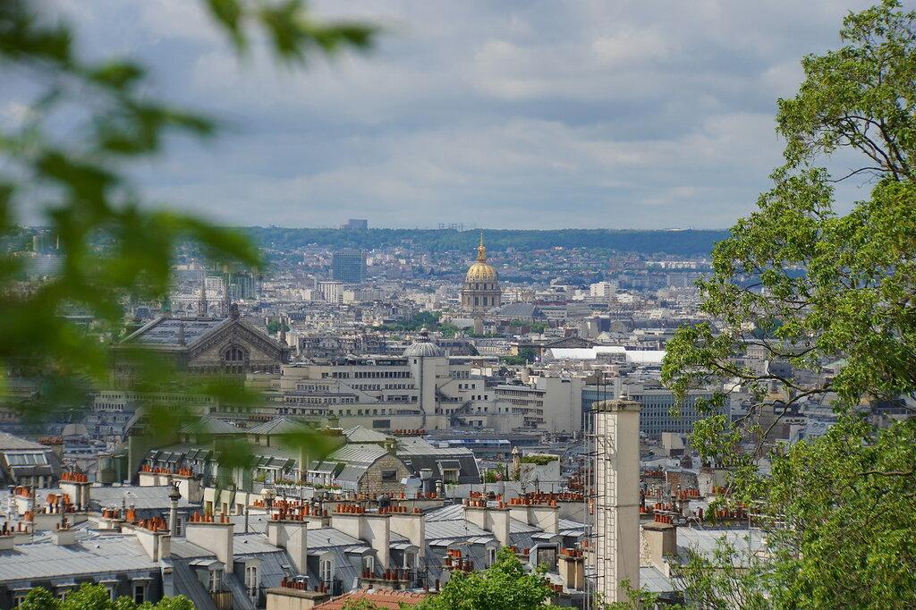 Вид с холма Монмартр