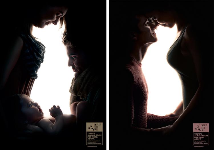 Креативная реклама - зашифрованный силуэт