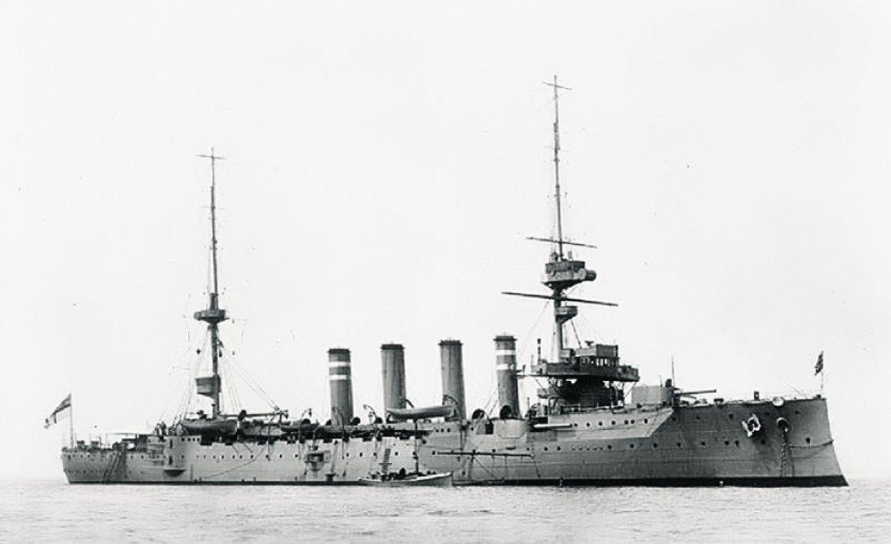 Крейсер «Хэмпшир», на котором погиб военный министр