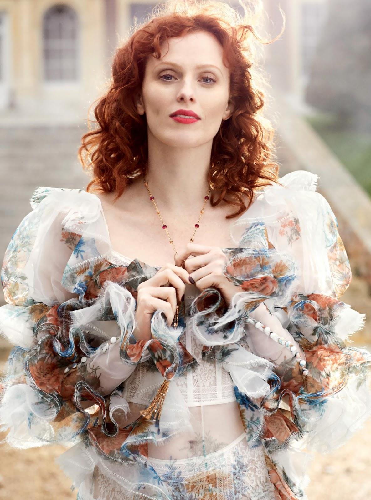 Harper's Bazaar UK June 2017 / модель Karen Elson фотограф Richard Phibbs