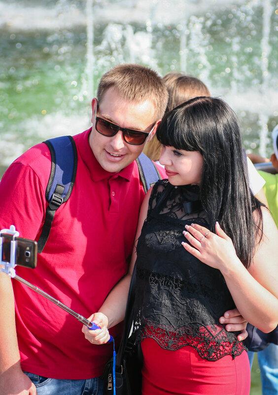 Посетители парка Царицыно