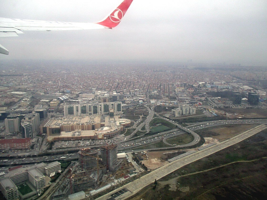 Перелет Стамбул-Мадрид. Над Стамбулом