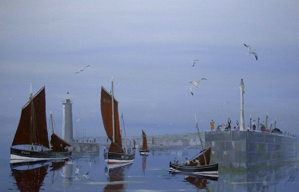 At the entrance to Anstruther Harbour Fife.