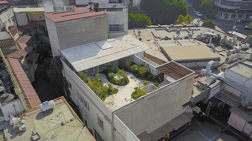 Частный дом с садом на крыше в Мексике (12 фото)