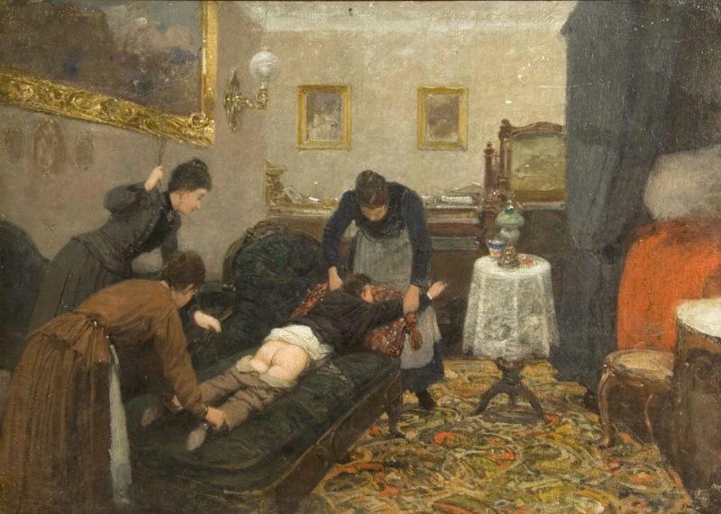 Сергей Коровин — «Перед наказанием» (1884 год) Впрочем, розгами пороли не только детей, но и взрослы