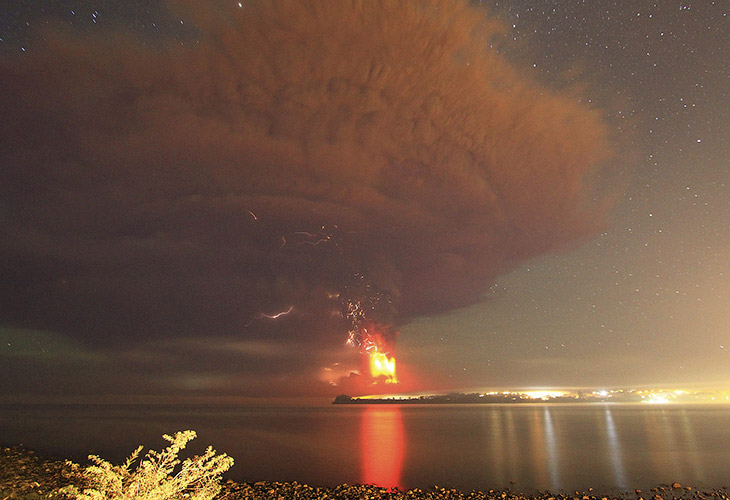 2. Последнее крупное извержение вулкана Кальбуко в Чили произошло в 1961 году. И вот, спавший с 1972