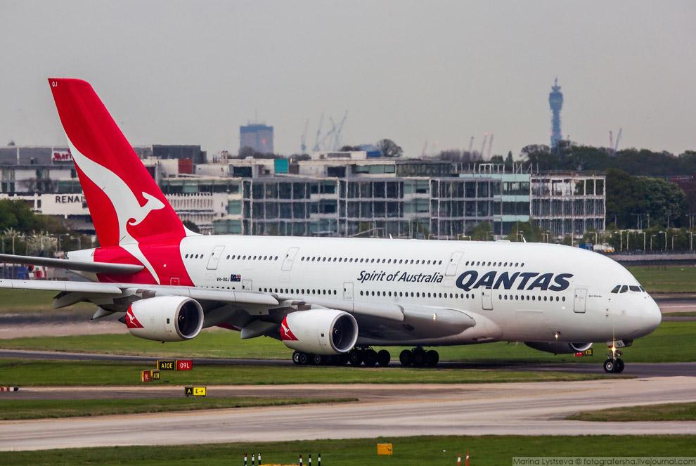 27. A380 авиакомпании Qantas можно встретить в аэропортах: Даллас, Дубай, Гонконг, Лондон, Лос-