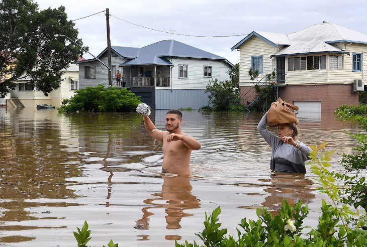 Наводнение в Австралии (17 фото)