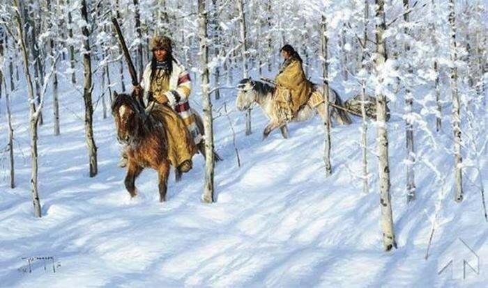 Индейцы Роберто Дункано (36 картин)