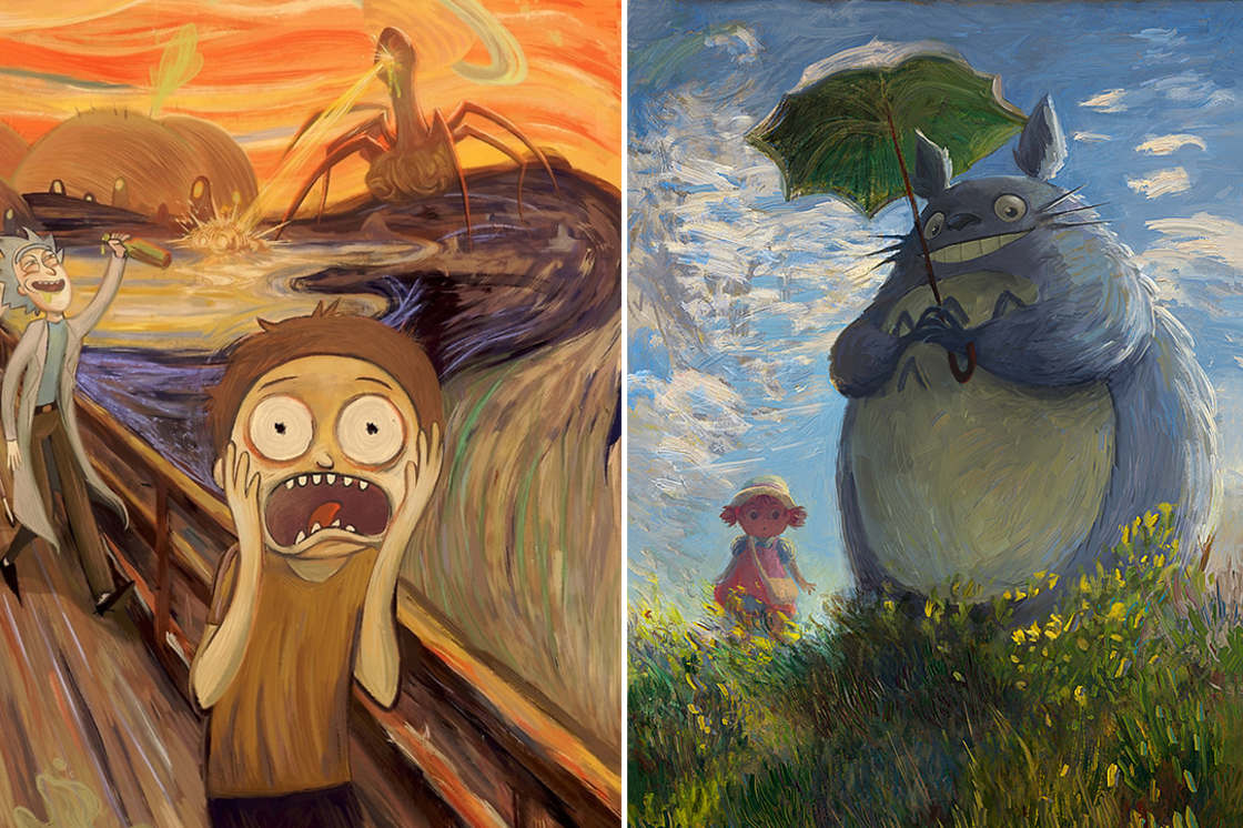 When pop culture meets famous classical paintings (10 pics)