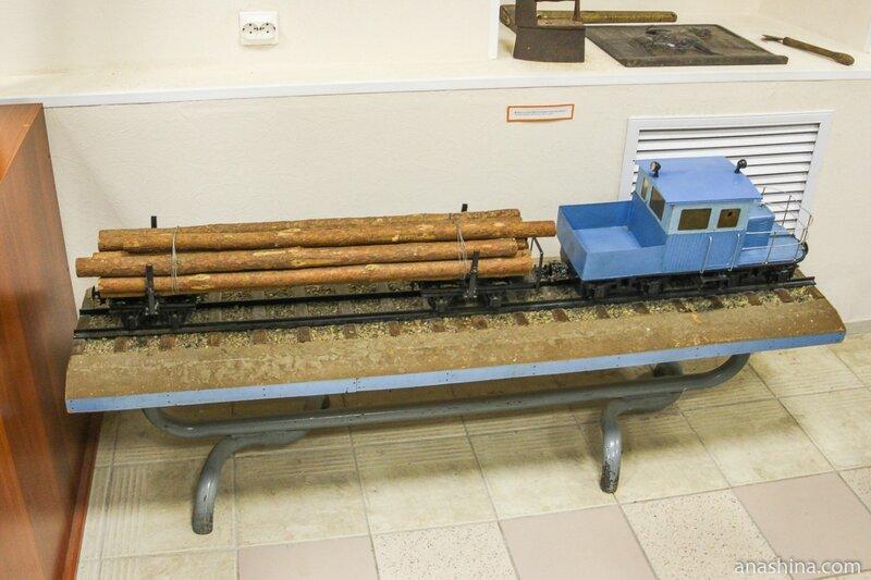 Модель лесовозного поезда, Музей промышленной истории Петрозаводска