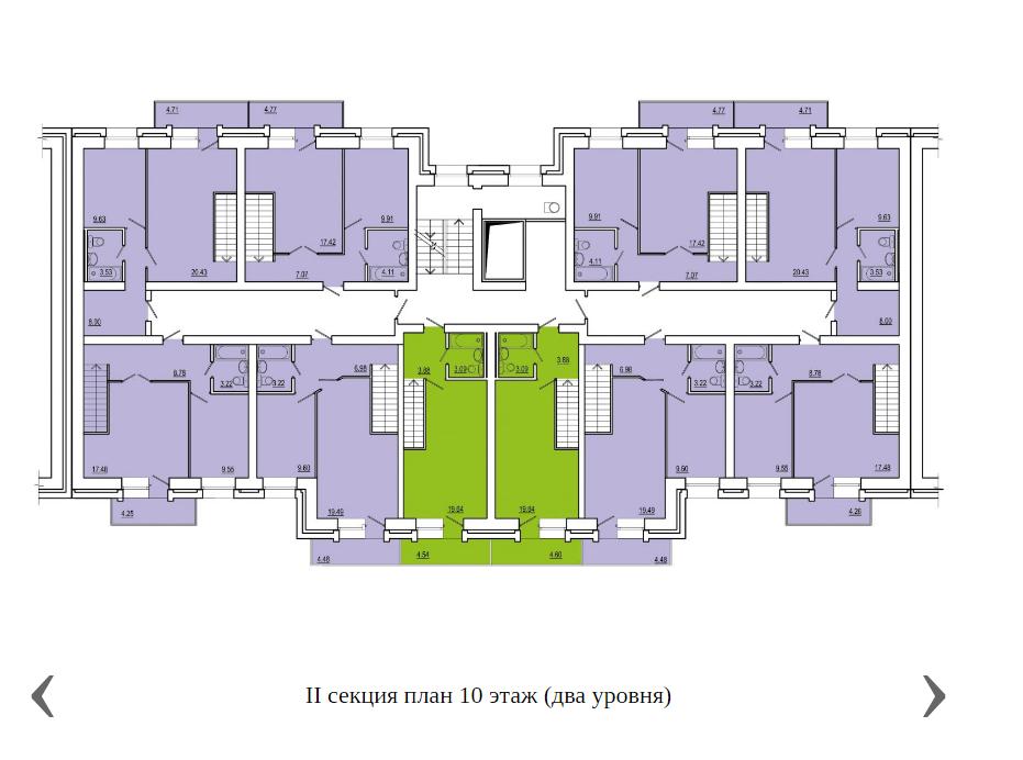 2 секция план 10 этажа (2 уровня).png
