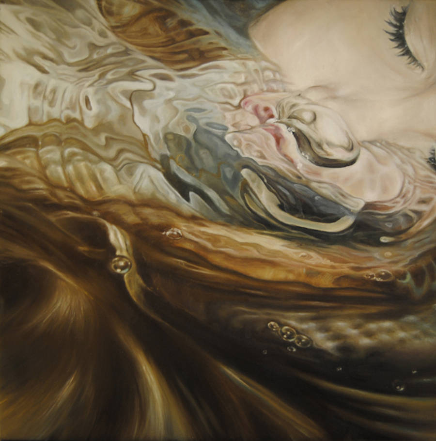 Beautiful Paintings of Underwater Girls Portraits by Nuria Farre
