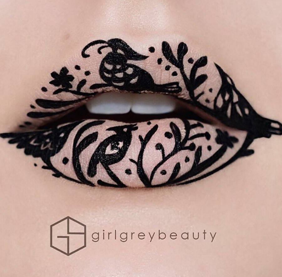Artistic Lip Make-up by Andrea Reed