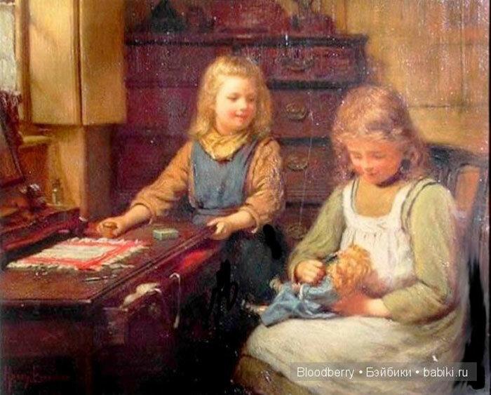 Куклы в картинах английского художника Гарри Брукера (1848-1940)