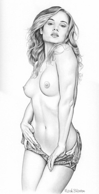 пин-ап девушки - художник Mark Blanton