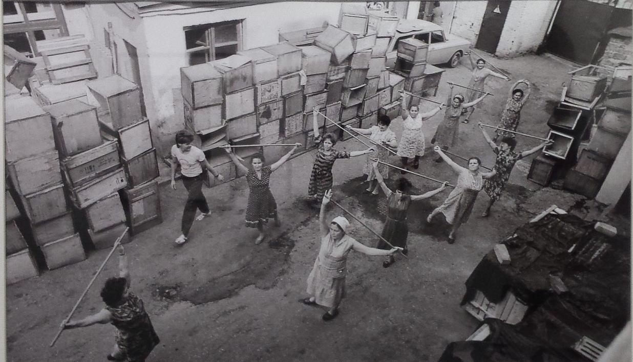1987. Казань. Аэробика на фабрике головных уборов