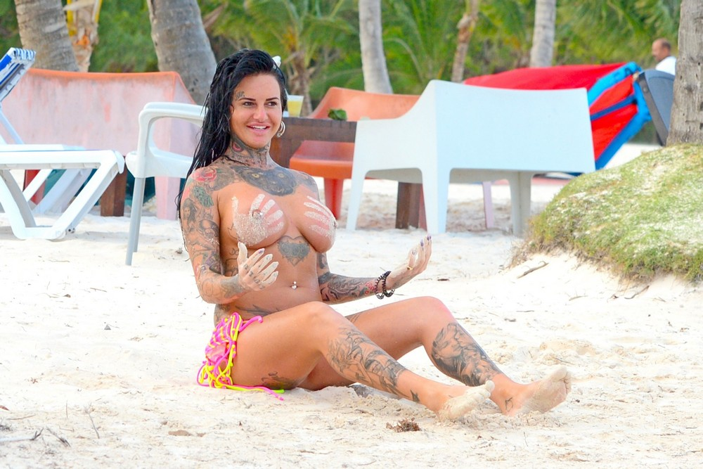 Gemma lucy on vacation topless