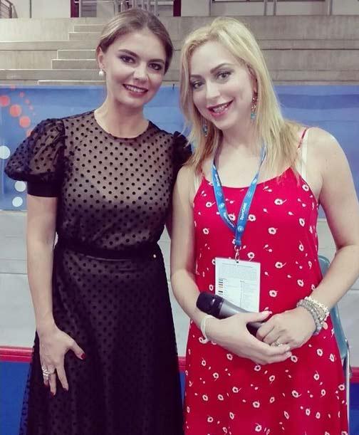 Алина Кабаева в прозрачном платье