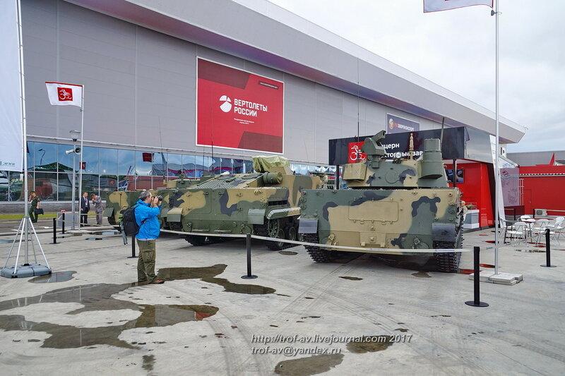 БМД-4М, БТ-3Ф и Спрут-СДМ-1, форум Армия-2017