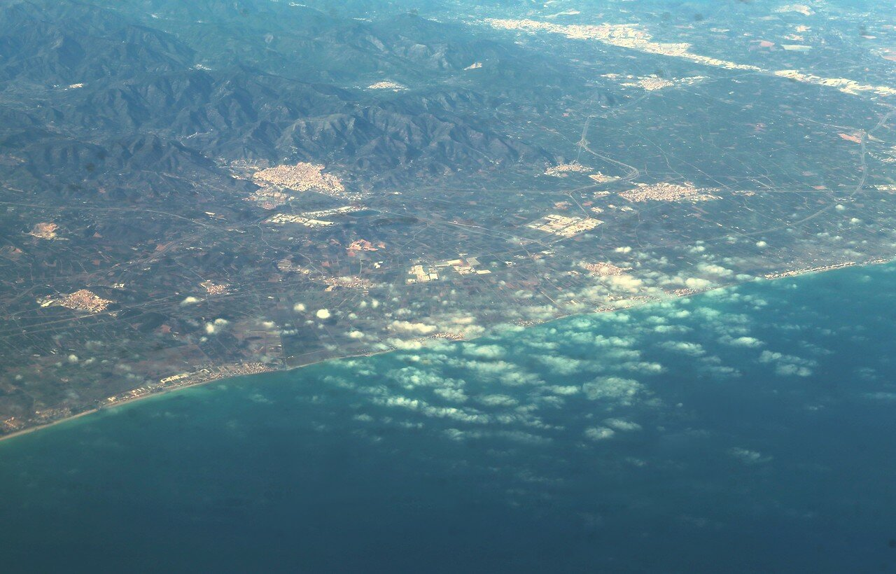 Orange beach, view from the plane