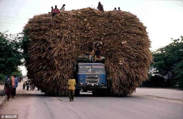 Если приглядеться, то можно увидеть грузовик.