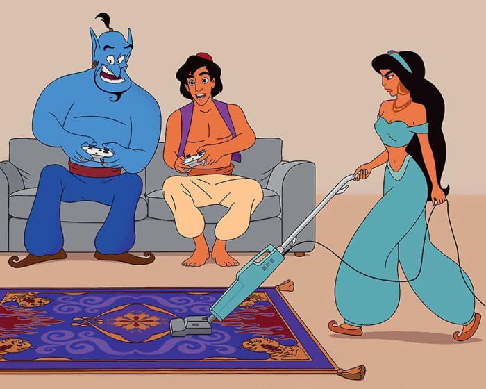 Привет, ХХI век: Персонажи диснеевских мультфильмов в современном мире