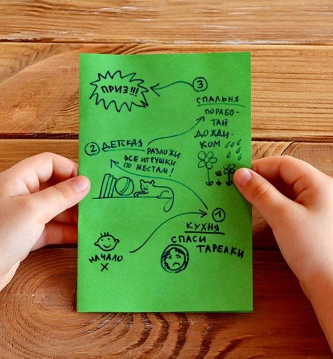 © depositphotos  Нарисуйте карту иззаданий, которые нужно выполнить : спасти флот тарелок от